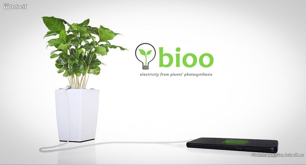 Bioo, la maceta que carga tu smartphone gracias a la fotosíntesis