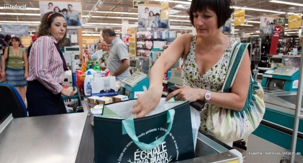 línea de caja en Carrefour Imagen: granadablogs