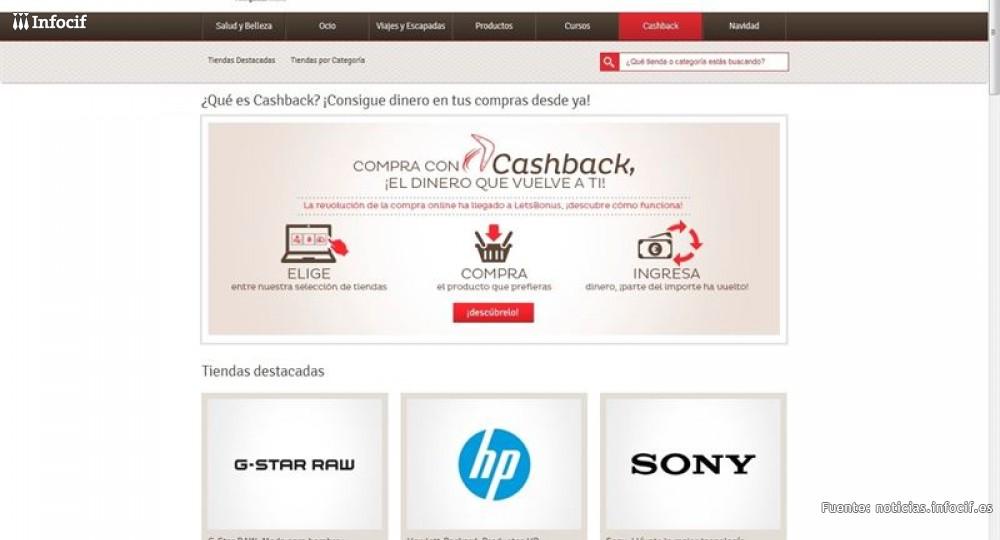 """La revolución de la compra online llega a LetsBonus con su fórmula """"Cashback"""""""