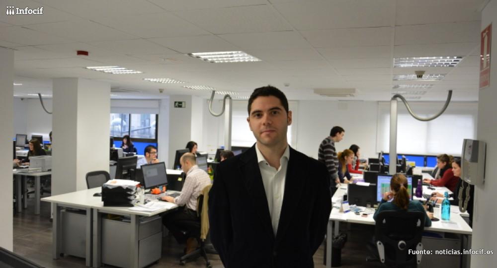 Ricardo Sainz en las instalaciones del Grupo Gedesco