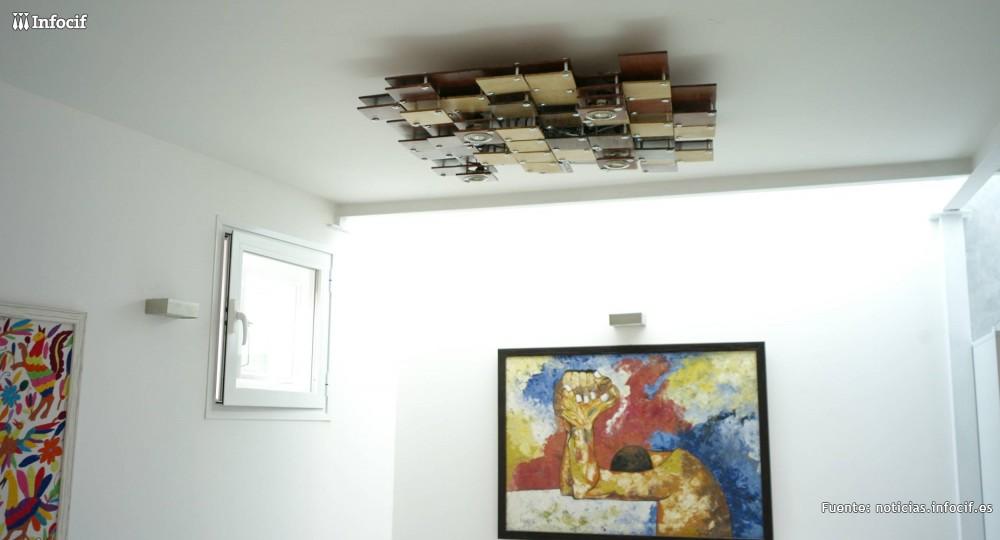 Lámpara Alerik, un proyecto integrado por dos lámparas de techo