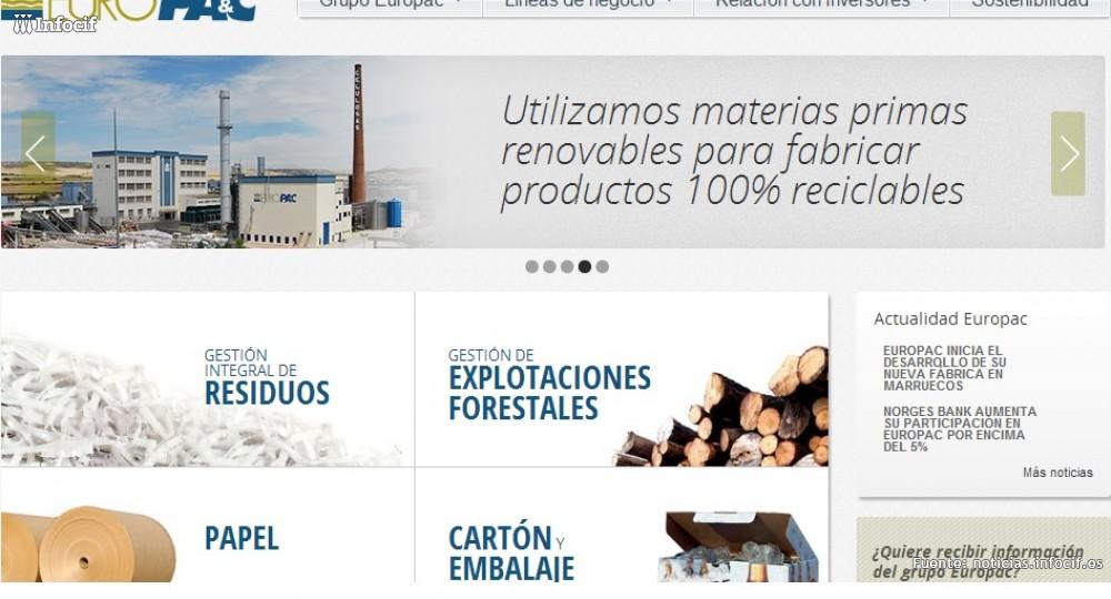 Europac compra el terreno para una nueva fábrica de cartón en Marruecos
