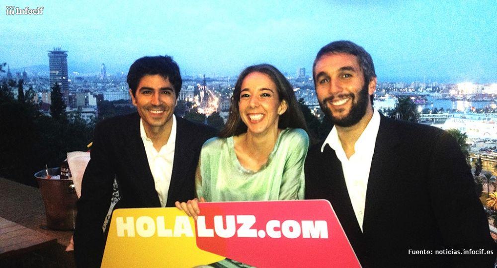 Los tres socios fundadores de Holaluz.com: Ferrán Nogué, Carlota Pi y Oriol Vila