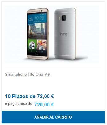 htc a plazos y sin intereses