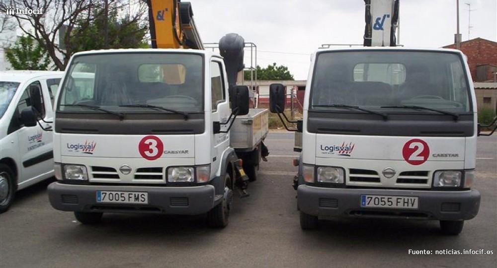 Logisval se dedica al alquiler de camiones cesta para trabajos aéreos, alquiler de furgonetas y camiones