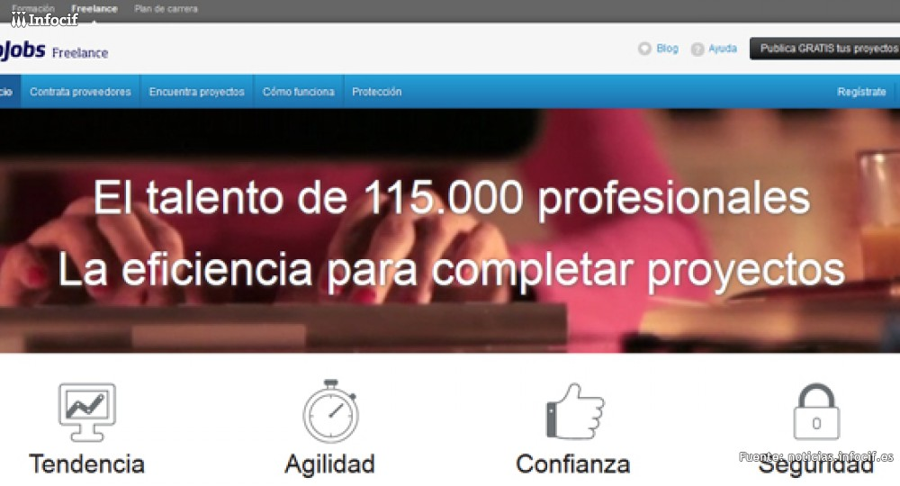 En Infojobs Freelance puedes dar a conocer tu proyecto emprendedor y ganar dinero