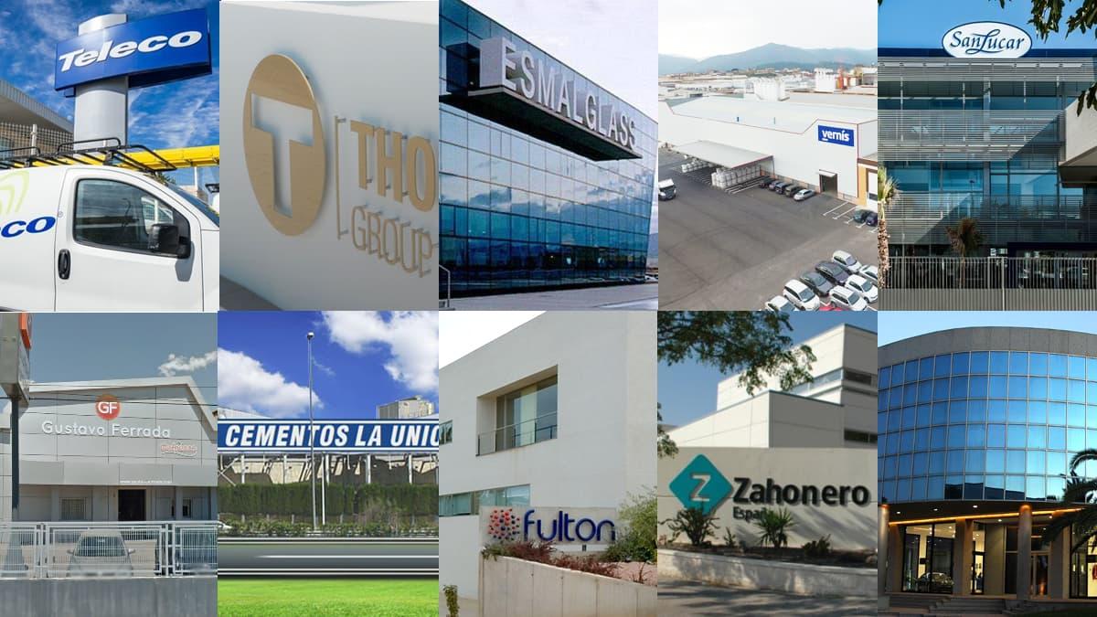 Empresas que más aumentan beneficios, Zahonero, Esmalglass; SanLucar Fruit; Gufresco; Cementos La Unió,