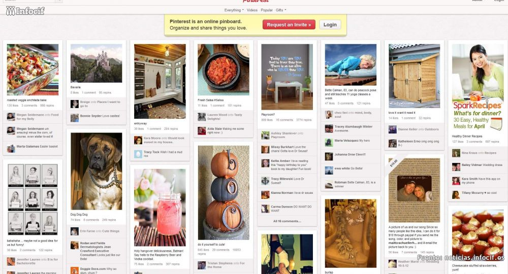 Pinterest insertará publicidad en la red social