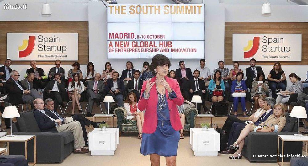 María Benjumea, presidenta de Spain Startup, durante la presentación The South Summit