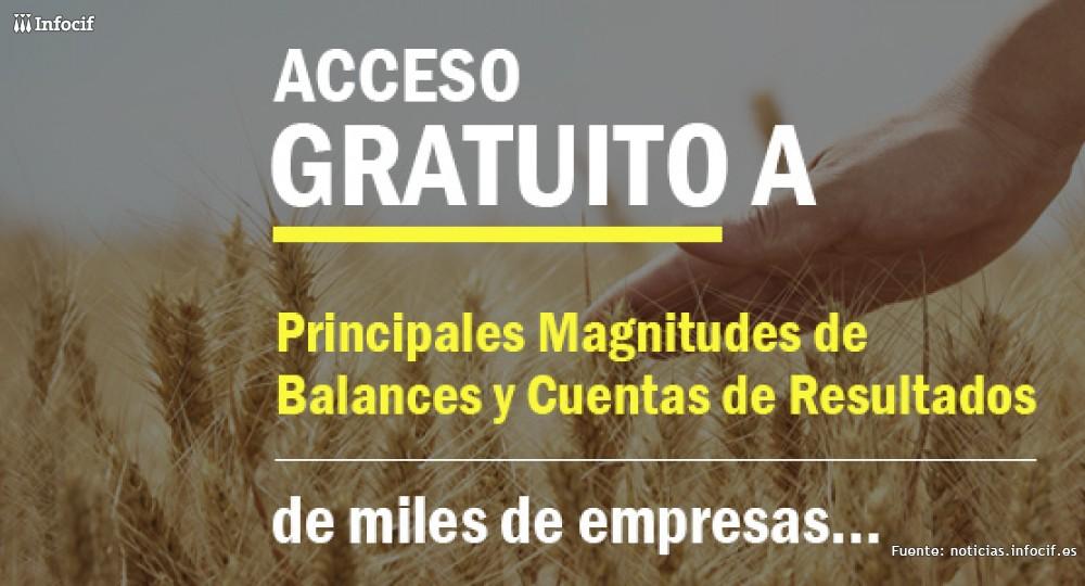 Infocif te da acceso gratuito a las principales magnitudes de balances y cuentas de resultados de empresas españolas