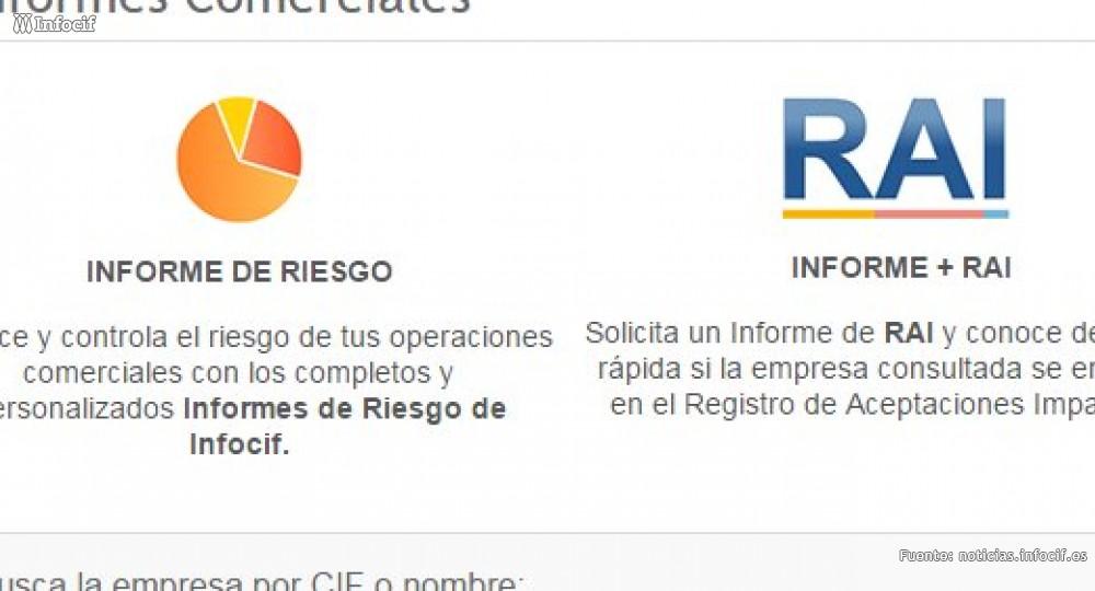 Con los Informes de Riesgo e Informes + RAI podrás controlar el riesgo de las operaciones comerciales de tus clientes
