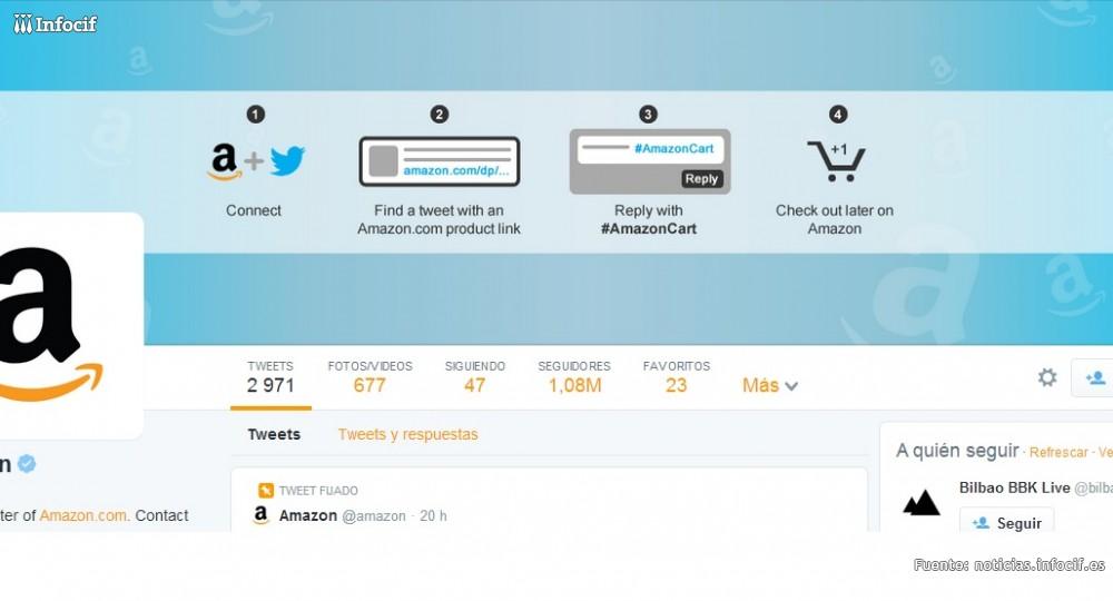 Amazon se alía con Twitter y permite comprar a través de la red social