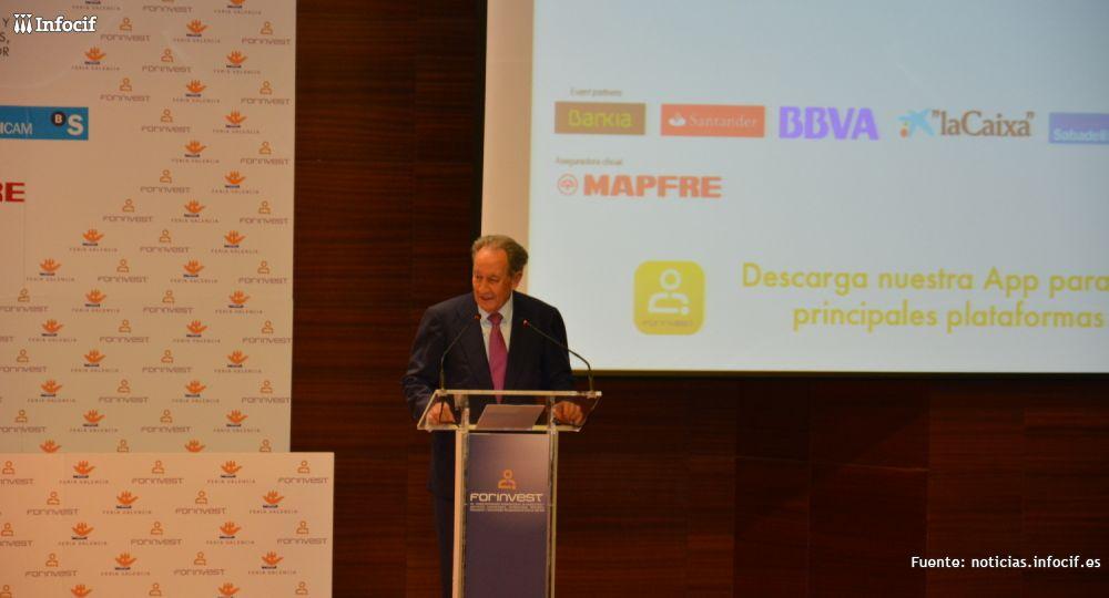Villar Mir durante su ponencia en FORINVEST