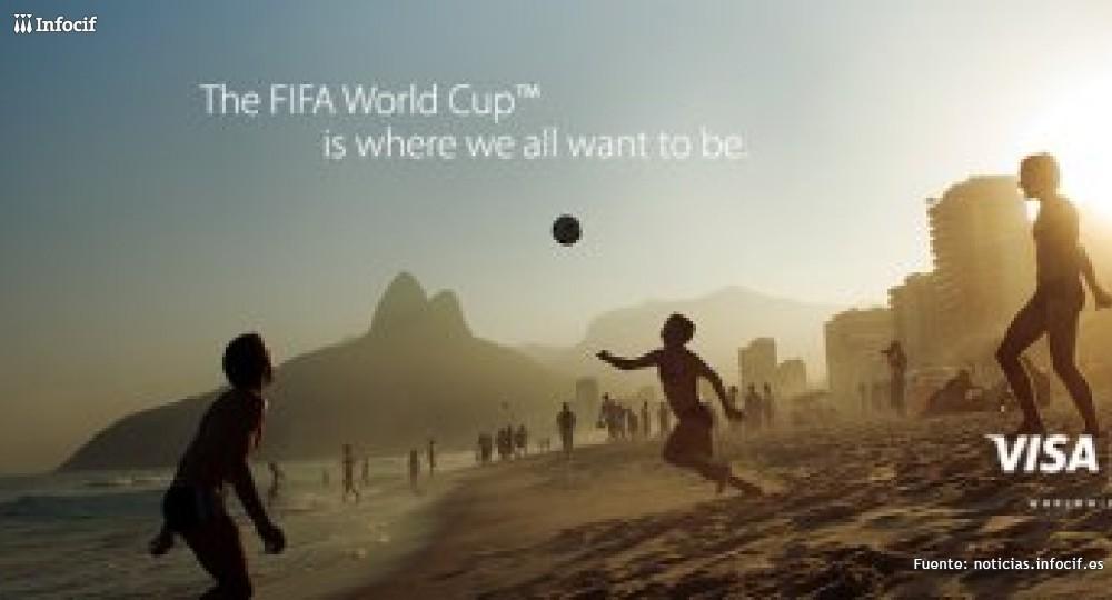 Los españoles gastan 2,9 millones de euros con VISA en el Mundial de fútbol