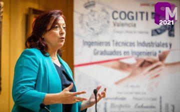 Ángela Gómez, decana del COGITI Valencia.