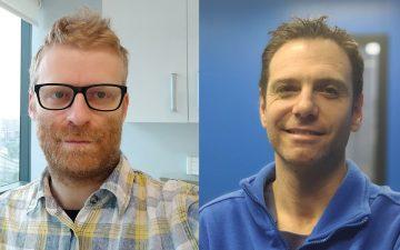 Los médicos y anestesiólogos, Guido Mazzinari (izq.) y Lucas Rovira (dcha.)
