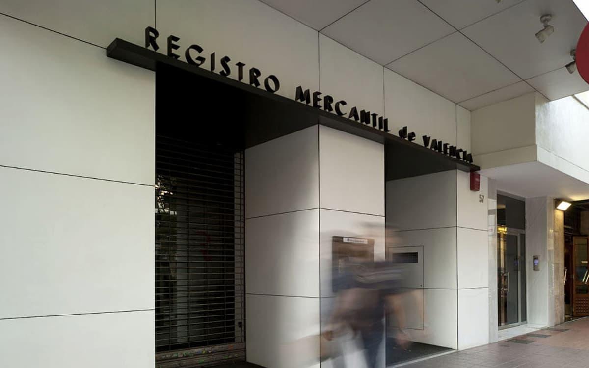 Registro Mercantil de Valencia.