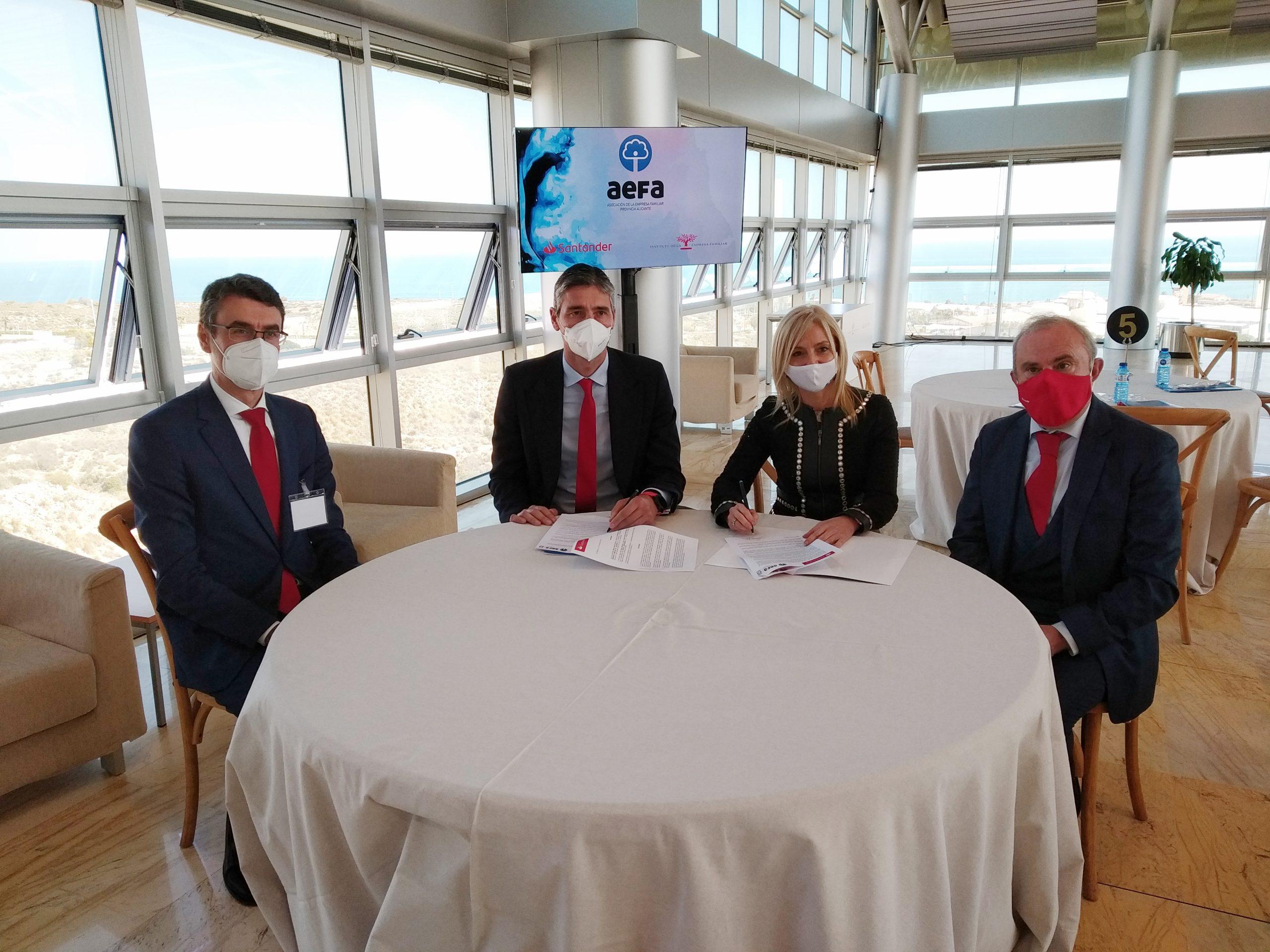 AEFA y Santander renuevan su colaboración para impulsar la empresa familiar
