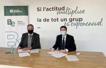Juan Gallur y Marcos J. Lacruz en la renovación del convenio