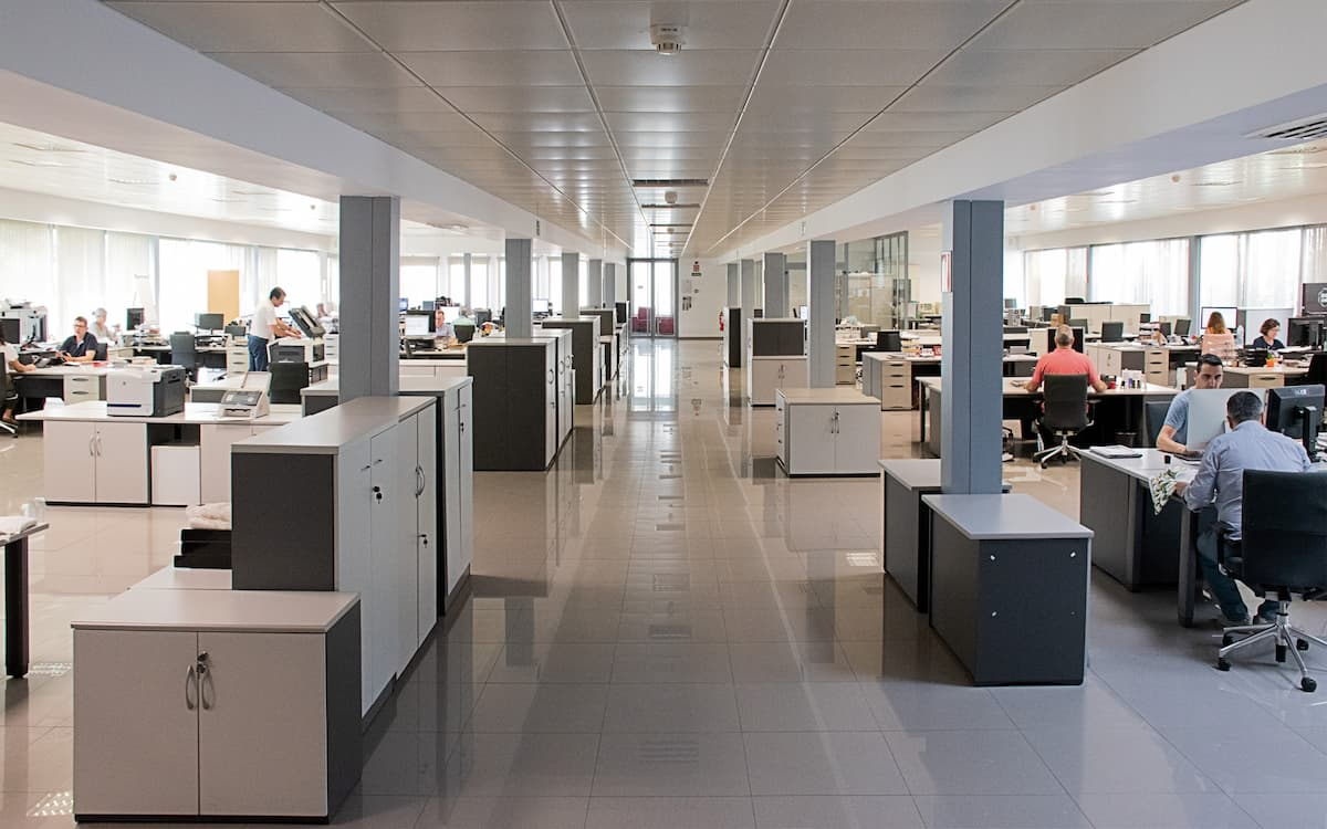 Oficinas de Aznar Textil por dentro