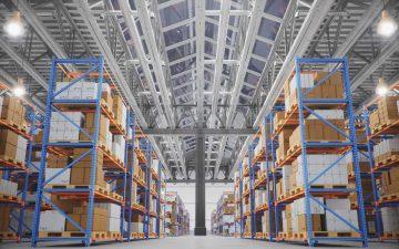 Un almacén de logística