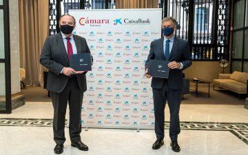 Renovación del convenio de colaboración entre Caixabank y Cámara Valencia