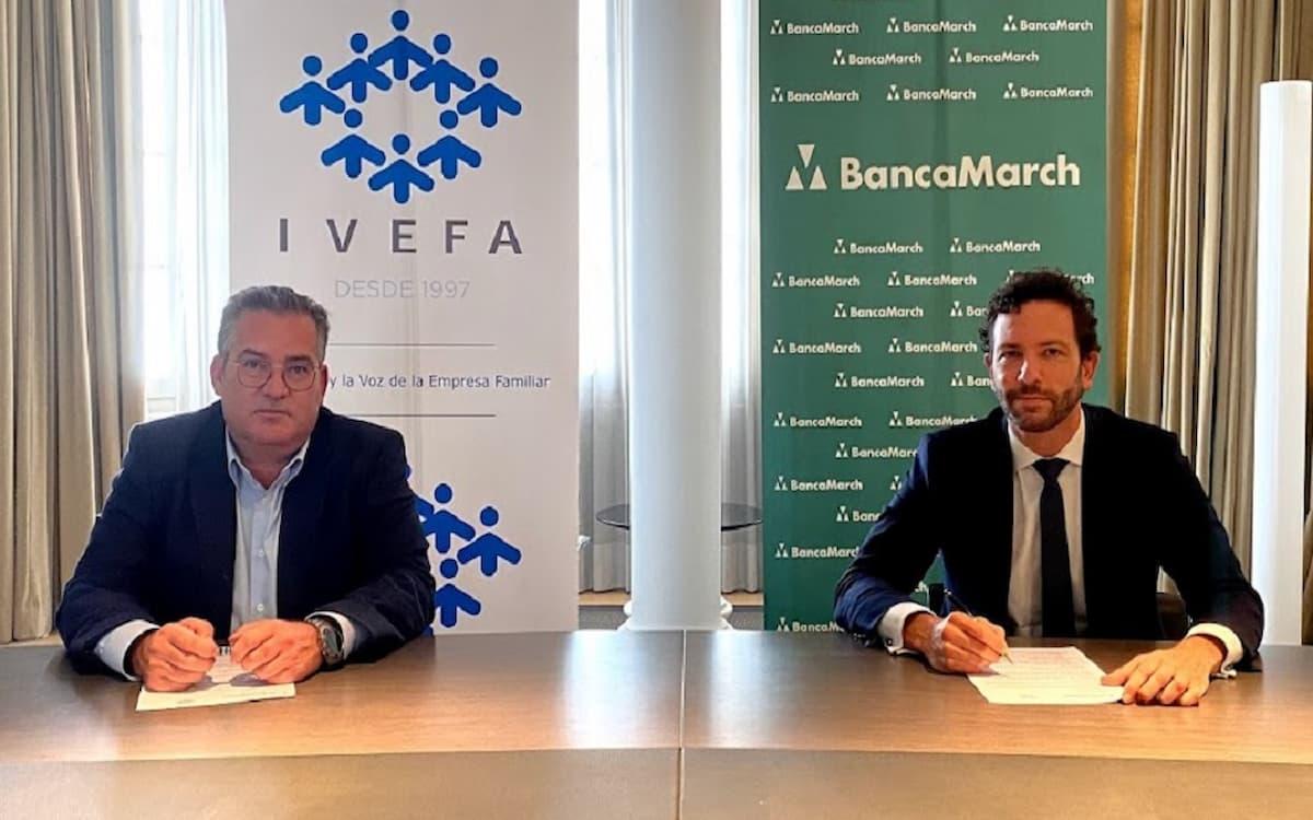Firma de acuerdo entre IVEFA y Banca March