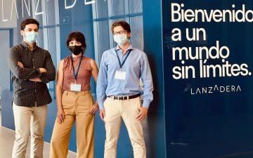 Miguel Pagán (a la derecha) Paula Páez y Gonzalo del Cerro