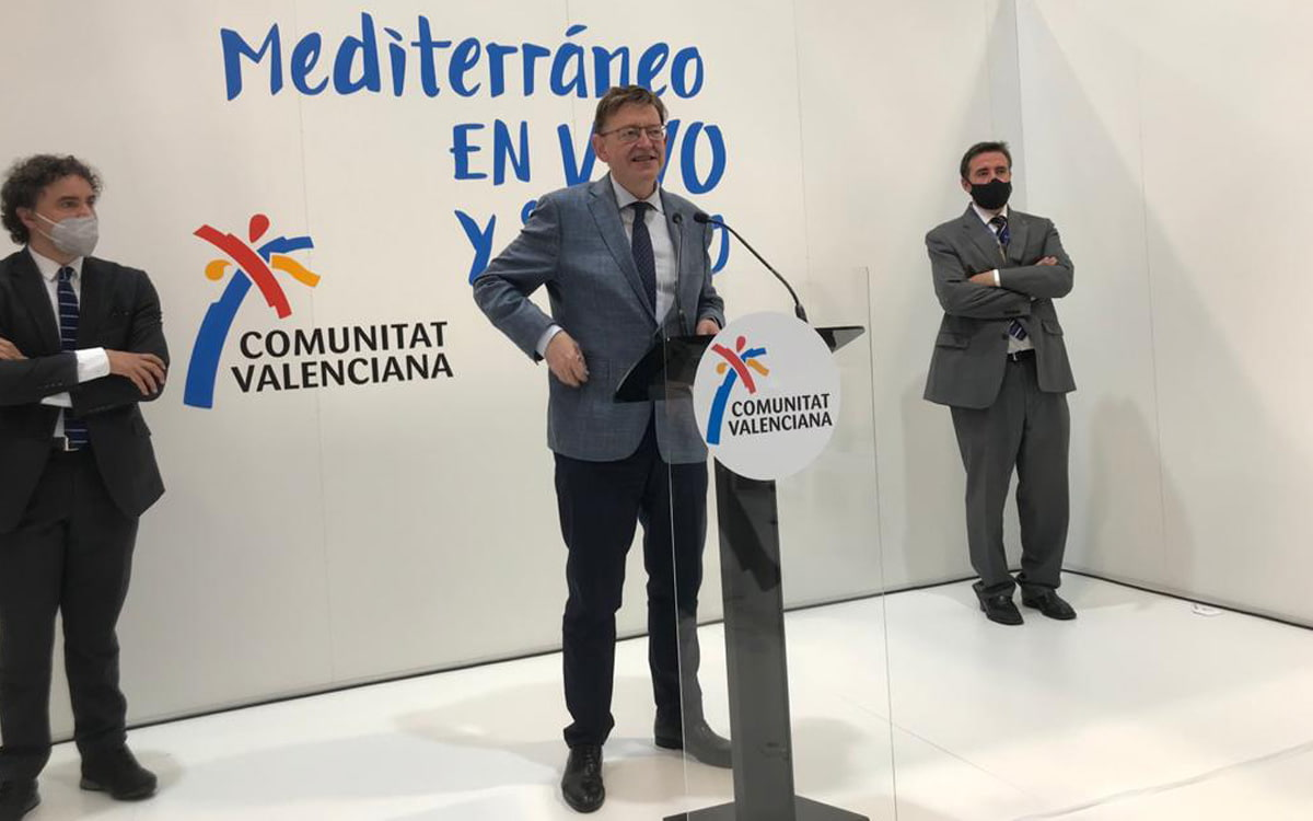 El presidente de la Generalitat Valenciana, Ximo Puig, en Fitur