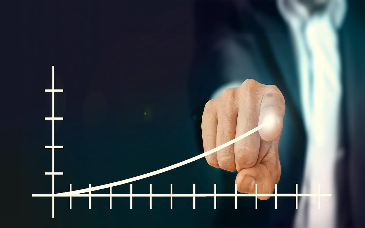 Un gráfico que representa la productividad de una empresa