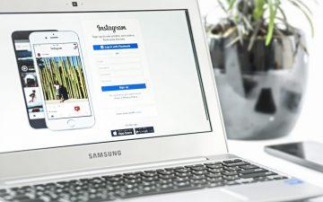 En el ordenador se aprecia la importancia del tamaño de las fotos en Instagram