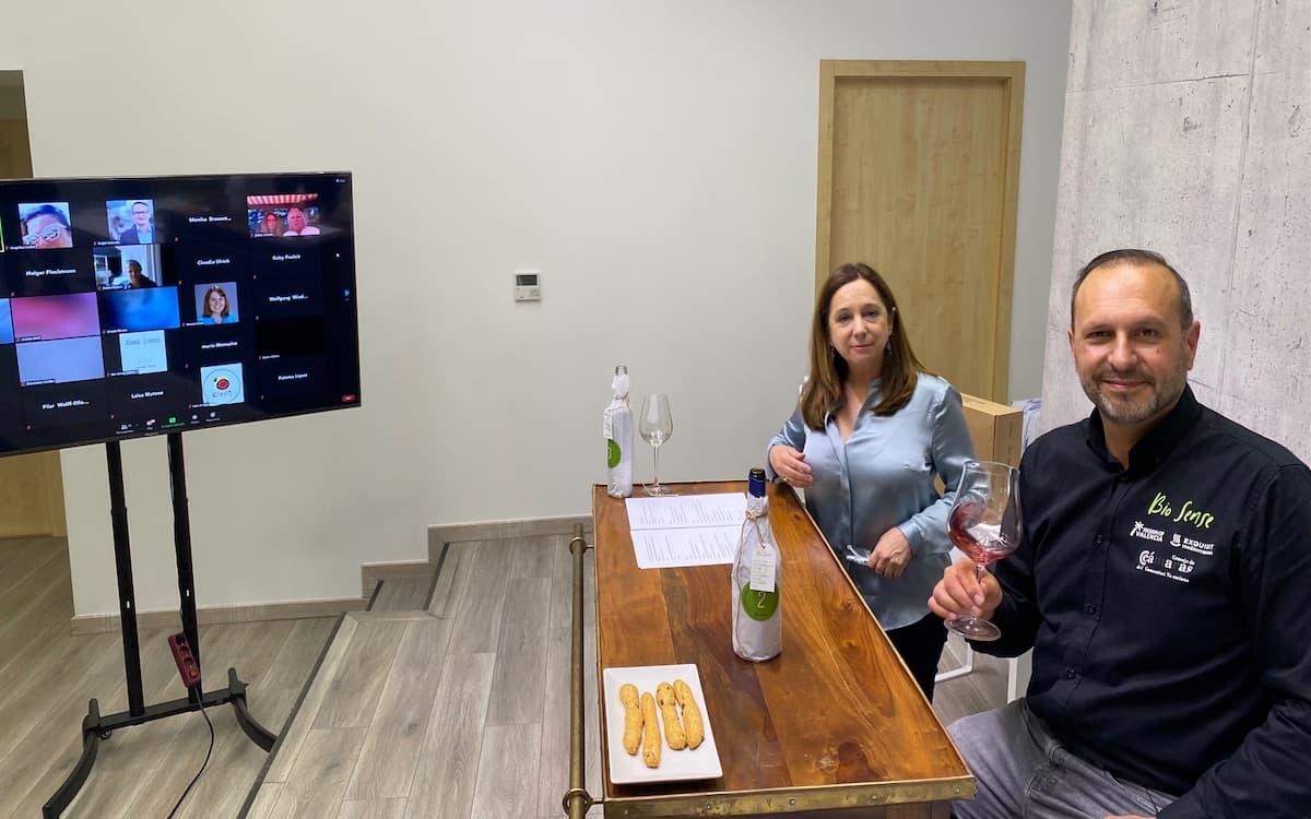 Cata virtual de vinos valencianos Bio Sense