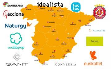 Mapa con las principales compraventas de empresas en España