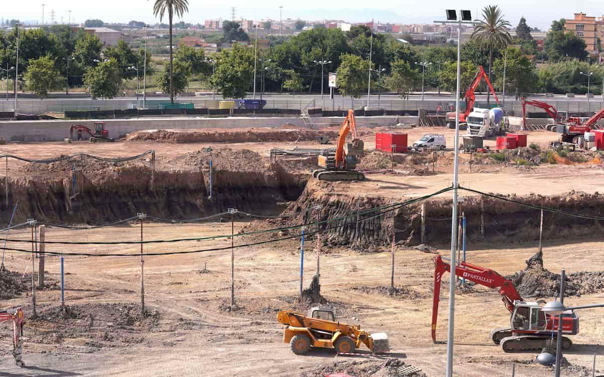 Vista general de las obras de Casal España Arena de València (1)