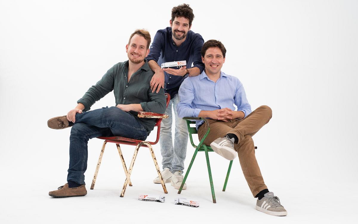 Gabor Balogh, Ramón Castro y Luis Bardaji (de izda a dcha), fundadores de Trucksters