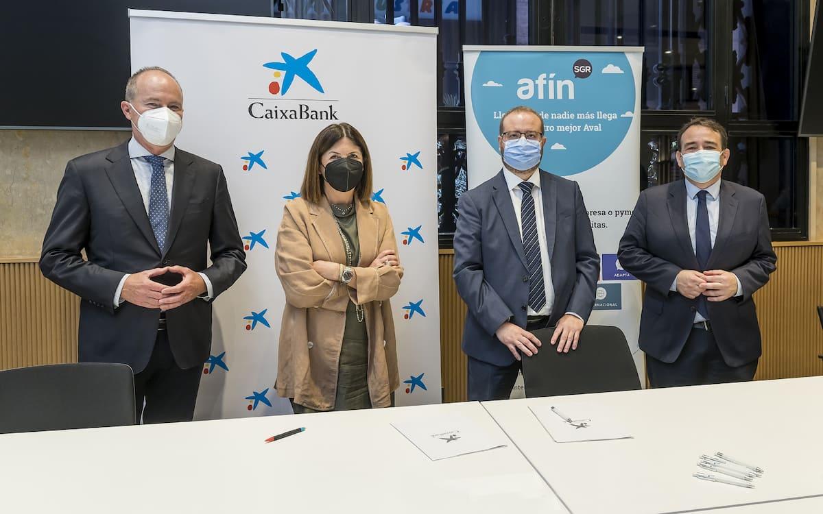 Acuerdo entre Afín SGR y Caixabank