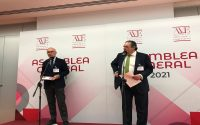 El presidente de la Asociación Valenciana de Empresarios (AVE), Vicente Boluda y el expresidente de Unió y exportavoz de CiU en el Congreso, Josep Antoni Duran i Lleida.