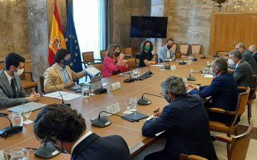 Representantes del clúster cerámico se reúnen con la ministra Teresa Ribera
