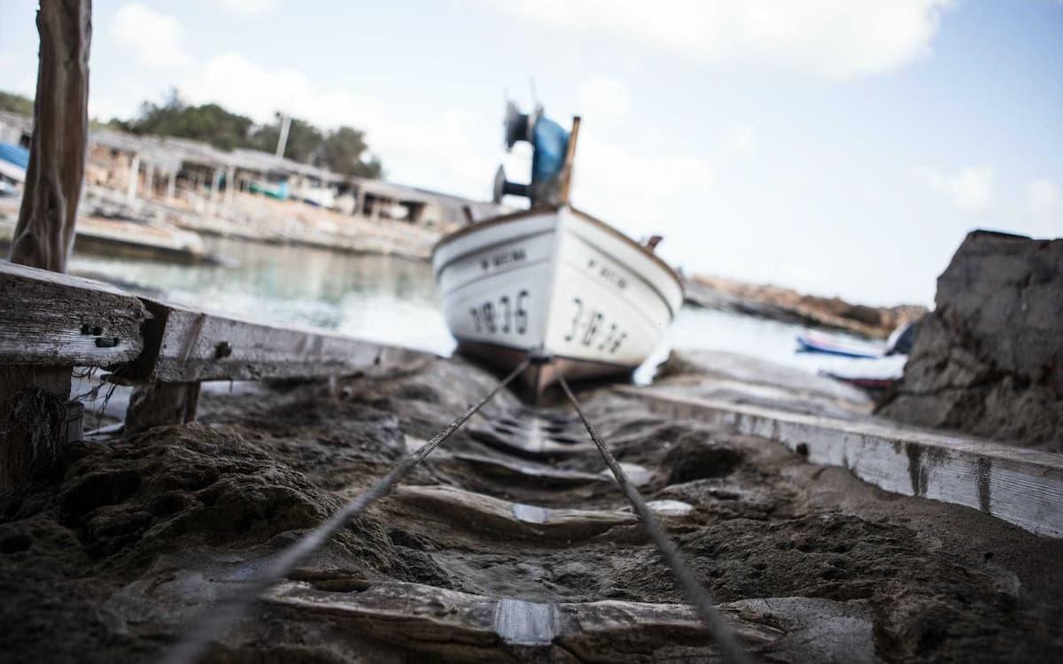 Barca en Formentera