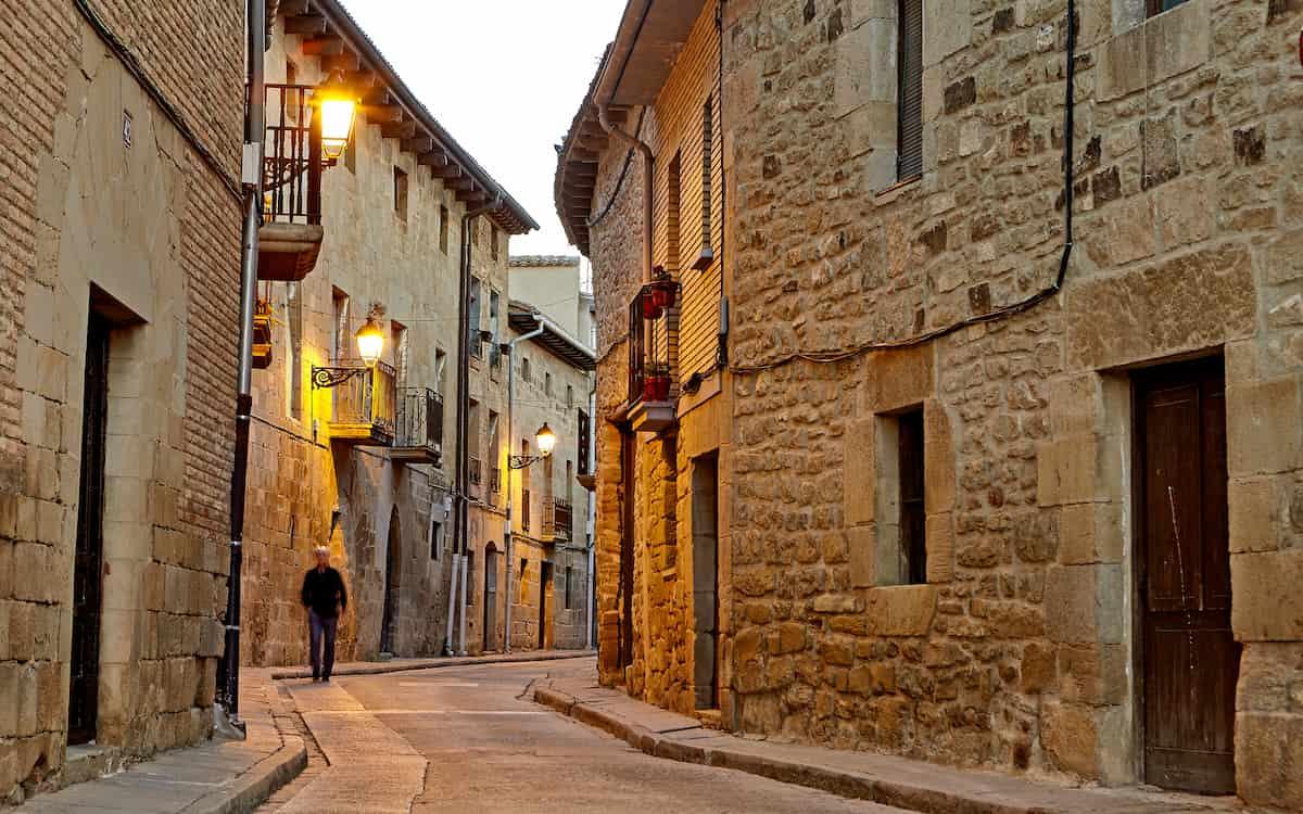 Callejones de Olite en Navarra
