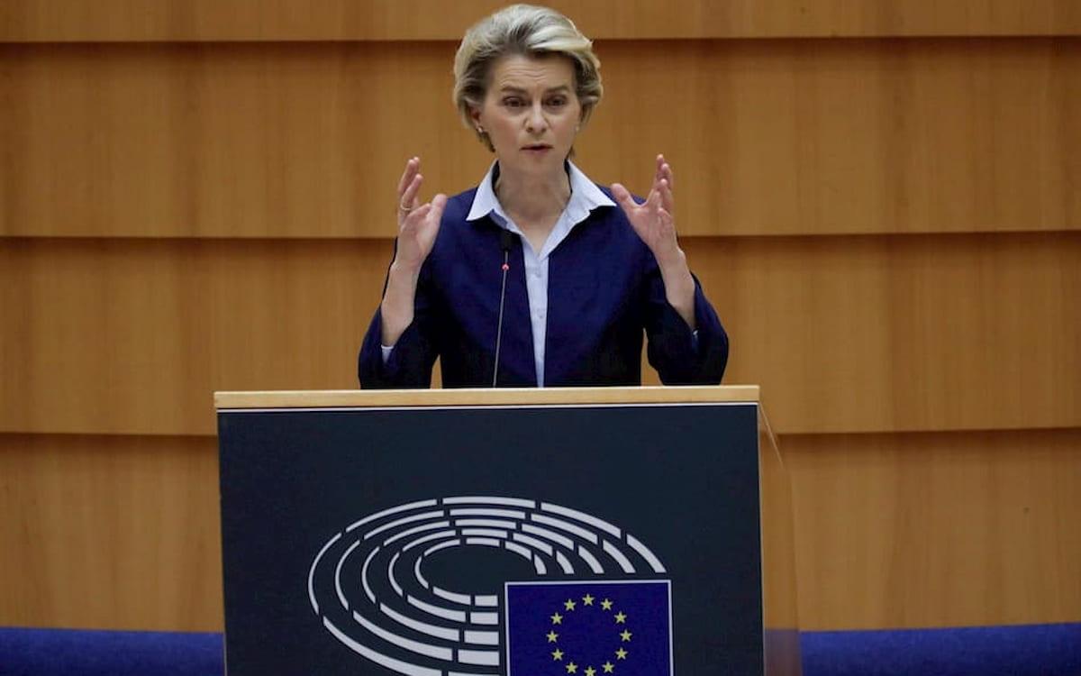 La presidenta del Ejecutivo comunitario, Ursula von der Leyen. Fondos de recuperación.